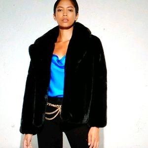 🐻Faux Fur Fuzzy  Black Teddy Coat